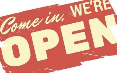 WE ARE OPEN! ☑
